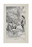 Puck Appears To Una and Dan On Midsummer's Eve. Illustration For a Story Set in the Sussex Hills Giclee Print by Harold Millar
