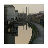 Waterway Running Through Urban Industrial Environment. Sunset, Baildon Bridge, Shipley, 1987 Giclee Print by Fay Godwin