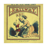 Front Cover Of the Railway ABC Depicting a Woman Teaching the Alphabet To a Young Child Giclee Print