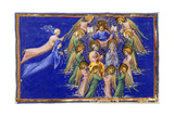 Dante and Beatrice Before Christ, Who Is Surrounded by Saints and Angels Giclee Print by Dante Alighieri