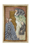 Miniature Of Cuthbert Praying in the Sea Giclee Print by  Bede