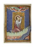 St. Cuthbert Praying Giclee Print by  Bede