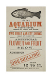 Royal Aquarium, Westminster ... Two Great Variety Shows Daily ... Artificial Flower and Fruit Show Giclee Print
