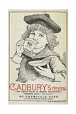 Advertisement For Cadbury's Cocoa Depicting a Child Drinking Cocoa From a Tea Cup and Saucer Giclee Print by Isabella Beeton