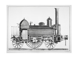 Cross Section, Side-elevation Of a Locomotive Engine Giclee Print by James Basire the Younger