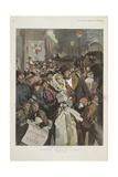 "It Is Brighter !"". Cried the People Clustering in the Street"". Illustrating 'The Star' Giclee Print"