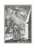 Engraving Of a Mourning Woman at a Graveside Giclee Print by Thomas Bewick