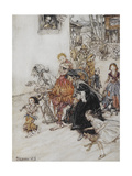 Hark! Hark! the Dogs Do Bark'. a Collection Of Characters Including a Jester Giclee Print by Arthur Rackham