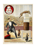 The Wonderful Performing Dogs'. an Act Involving Dogs in a Circus Ring - Giclee Baskı