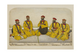 Five Rissaldar and Jemadrs Of Skinner's Horse Seated On the Ground Giclee Print