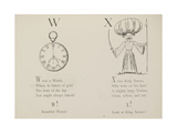 Watch and King Xerxes Illustrations and Verse From Nonsense Alphabets by Edward Lear. Giclee Print by Edward Lear