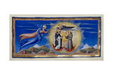 St Thomas Aquinas and Saints Giclee Print by Diovanni di Paolo