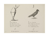 Ice-cream and Jackdaw Illustrations and Verse From Nonsense Alphabets by Edward Lear. Giclee Print by Edward Lear