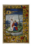 Miniature Showing St John Writing the Opening Words Of His Gospel Giclee Print by Peter Meghen