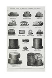 Various Kings Of Butter, Cheese and Eggs Giclee Print by Isabella Beeton