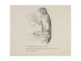 Parrot Reading Newspaper, Nonsense Botany Animals and Other Poems Written and Drawn by Edward Lear Giclee Print by Edward Lear