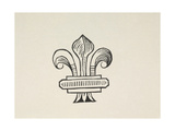Fleur-de-lys Type Illustration Giclee Print by Thomas Bewick