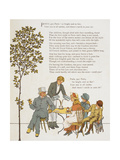 Children With Their Father Eating Refreshments. Colour Illustration From 'Abroad'. Giclee Print by Ellen Houghton