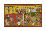 The Funeral Of Ravana Giclee Print by Sahib Din