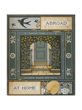 Back Cover Of 'Abroad'. Coloured Illustration Showing a Door. ジクレープリント : トーマス・クレイン