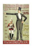London Pavillion, Piccadilly, 1887. the Tallest Man in the World. Herr Winkelmeier Giclee Print by Henry Evanion