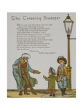 The Crossing Sweeper. a Hindu Road Sweeper. Illustration From London Town' Giclee Print by Thomas Crane