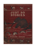 Illustrated Front Cover Showing an Elephant Giclee Print by Rudyard Kipling