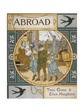 Front Cover Of 'Abroad'. Coloured Illustration Showing a Family On the Deck Of a Ship Giclee Print by Thomas Crane