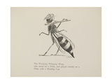 Wasp Playing the Flute From a Collection Of Poems and Songs by Edward Lear Giclee Print by Edward Lear