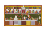 Excitement at Ayodhya Giclee Print