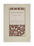 Monochromes Giclee Print by Aubrey Beardsley