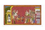 Rama, Sita and Laksmana Put On Bark Clothes Giclee Print