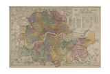 Sketch Map Of the London Postal District Gicléetryck av Edward Stanford