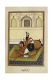 Portrait Of Maharaja Karam Singh Of Patiala (R.1813-1848) Giclee Print
