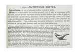 Recipe For Nutritious Coffee For an Invalid Giclee Print by Isabella Beeton