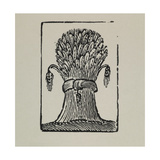 A Wheat Sheaf. Giclee Print by Thomas Bewick