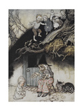 There Was an Old Woman Who Lived Under a Hill Lámina giclée por Arthur Rackham