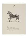 Zebra Illustrations and Verse From Nonsense Alphabets by Edward Lear. Giclee Print by Edward Lear
