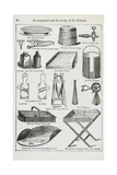 Arrangement and Economy Of the Kitchen. Various Kitchen Utensils Giclee Print by Isabella Beeton