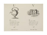 Urn and Villa Illustrations and Verse From Nonsense Alphabets by Edward Lear. Giclee Print by Edward Lear
