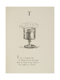 Tumbler Illustrations and Verse From Nonsense Alphabets by Edward Lear. Gicleetryck av Lear, Edward