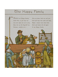 The Happy Family. a Man Entertaining Children With Animals. Illustration From London Town' Giclee Print by Thomas Crane