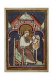 A Tonsured Seated Scribe, Probably Bede, Writing Giclee Print by  Bede