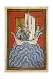 St. Cuthbert and Two Of the Brethren Sail To the Land Of the Picts Giclee Print by  Bede