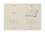 Ant and Book Illustrations and Verse From Nonsense Alphabets by Edward Lear. Giclée-Druck von Edward Lear