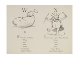 Whale and King Xerxes From Nonsense Alphabets Drawn and Written by Edward Lear. Giclee Print by Edward Lear