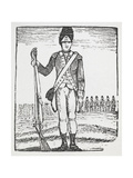 A Soldier With Rifle. Giclee Print by Thomas Bewick