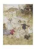 Ring-a-ring-a-roses Giclee Print by Arthur Rackham