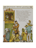 Punch and Judy. Children Watching a Punch and Judy Show. Illustration From London Town' Giclee Print by Thomas Crane