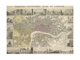 Plan Of London Stampa giclée